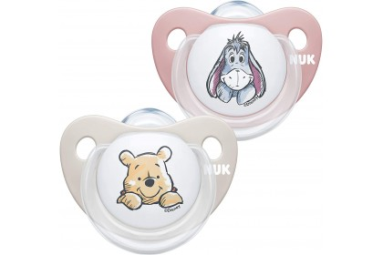 NUK Disney Winnie The Pooh (6-18 Month) Pink Soother Twin Pack