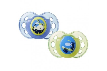 Tommee Tippee Glow In The Dark Night Time Soothers Twin Pack (18-36 Months)