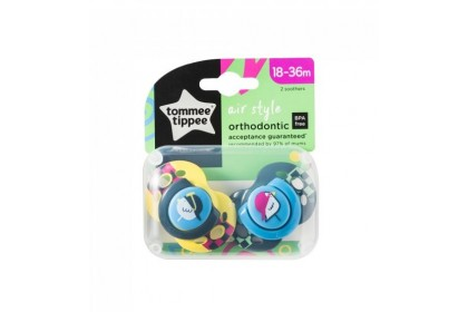 Tommee Tippee Air Style Soothers Twin Pack (18-36 Months)