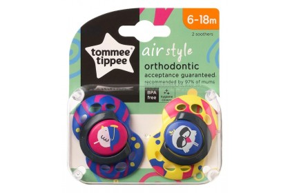 Tommee Tippee Air Style Soothers Twin Pack (6-18 Months)